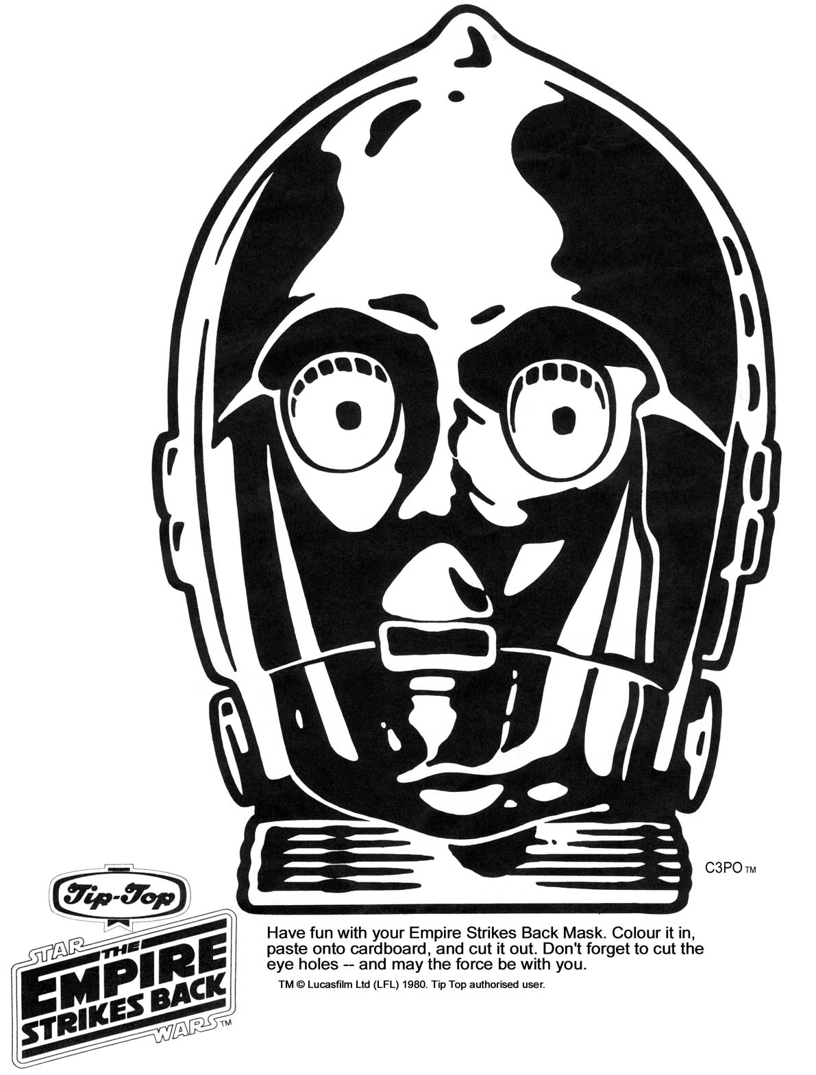 graphic regarding Star Wars Printable Masks identified as Ks Star Foundation - Star Wars Printable Masks - Kaplans Web site