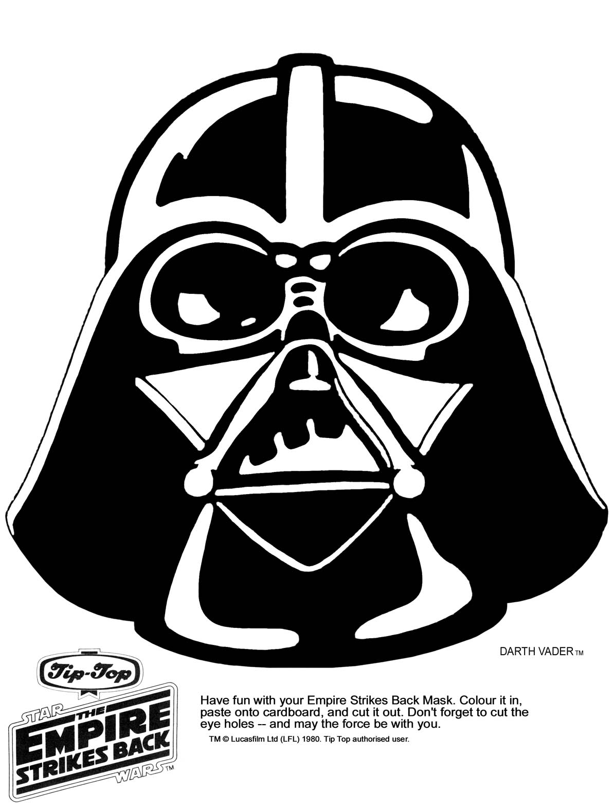 graphic relating to Star Wars Printable Masks identified as Ks Star Foundation - Star Wars Printable Masks - Kaplans Web page