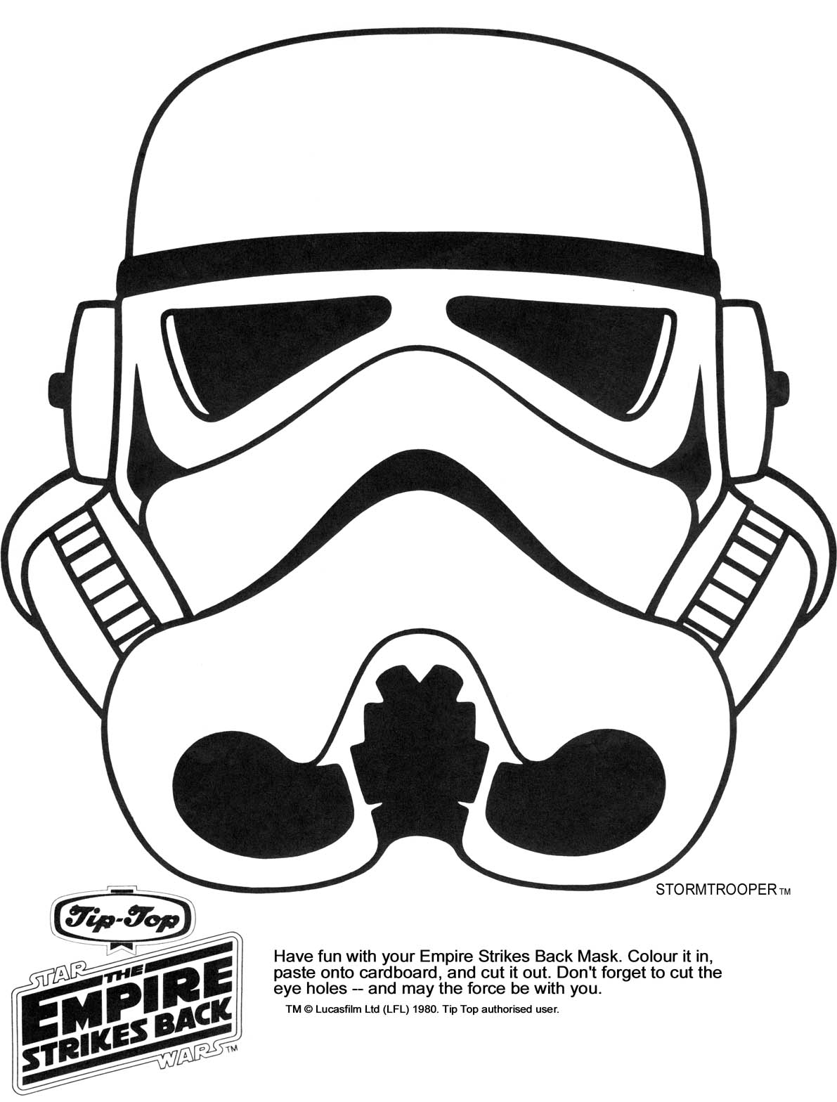 image regarding Star Wars Printable Masks named Ks Star Foundation - Star Wars Printable Masks - Kaplans Web site